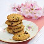 Biscotti con fiocchi di avena e frutti rossi