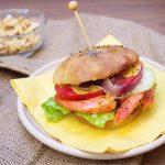 Fishburger con Gamberoni e Cipolla di Tropea