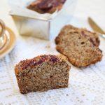 Plumcake al grano saraceno e marmellata di lamponi