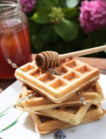 waffle-senza-burro-alla lavanda