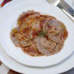 """Ravioli con grano saraceno ripieni di """"coppa"""" (o soprassata)"""